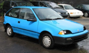 The discontinued Geo Metro